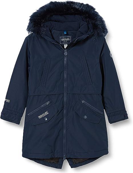 Regatta Unisex Kinder Honoria Waterproof Breathable Taped Seams Insulated Lined Hooded Parka Jacke