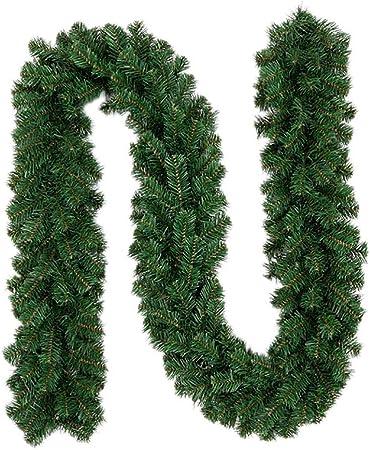 likeitwell Guirnaldas Decoraciones, Verde Claro Navidad ratán Guirnalda decoración 9ft sin Decorar árbol de Navidad Artificial guirnaldas Ornamento Verde Pino Guirnalda: Amazon.es: Hogar