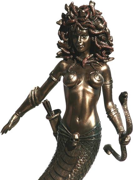 Statue der Medusa bronziert Veronese 20 cm Gorgone Perseus Griechenland