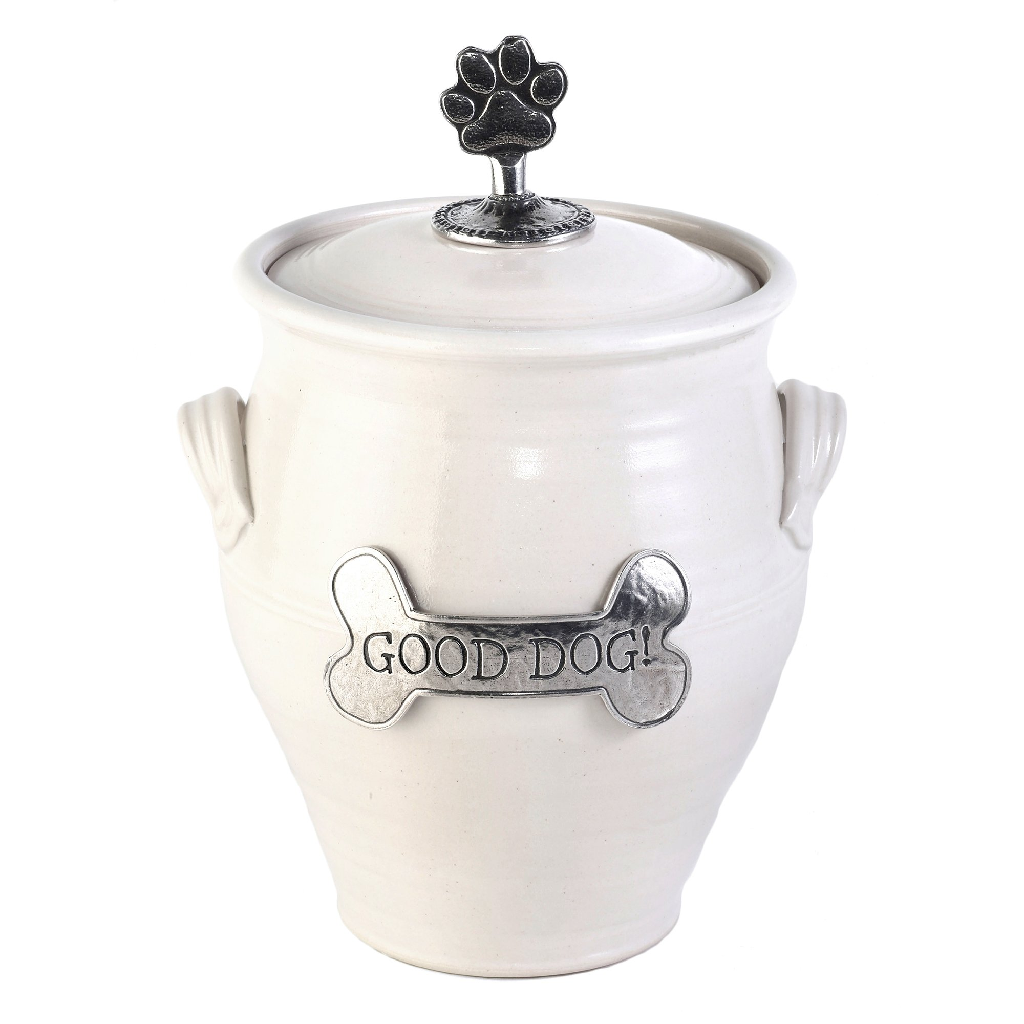 Oregon Stoneware Studio Large Dog Treat Jar, Whipping Cream by Oregon Stoneware Studio (Image #1)