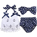 Infant Baby Girls Clothes Anchor Tops+Polka Dot...