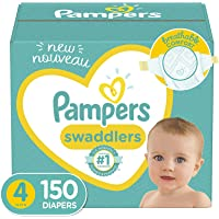 Baby Diapers Size 4, 150 Count - Pampers Swaddlers, ONE MONTH SUPPLY (Packaging May Vary)