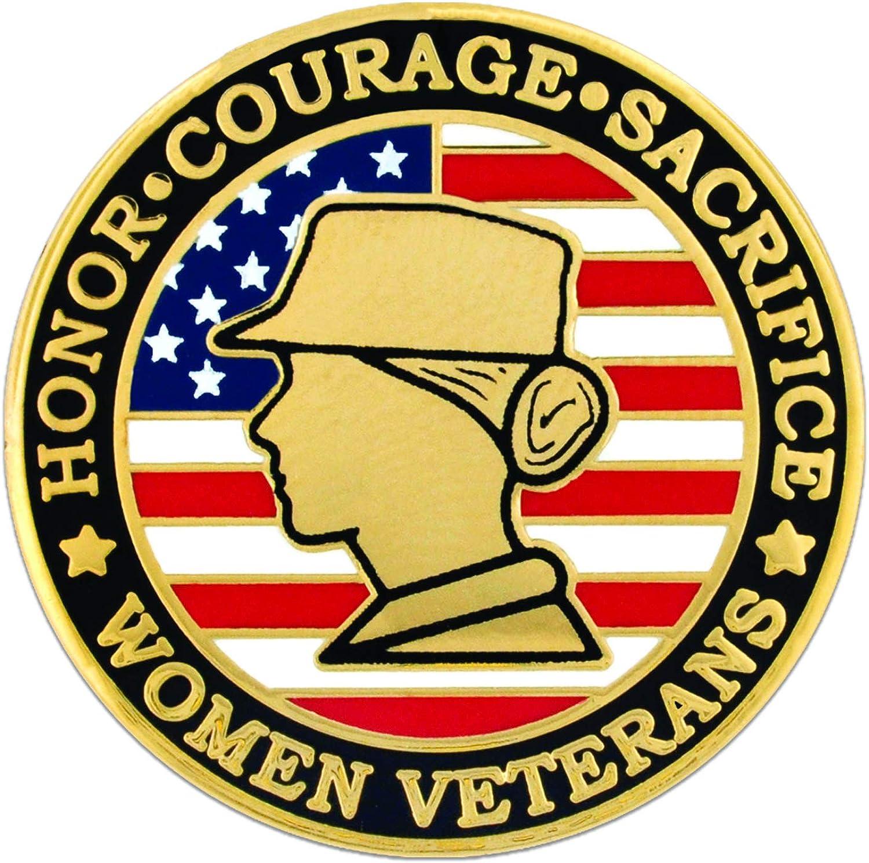 PinMart Women Veteran Flag...
