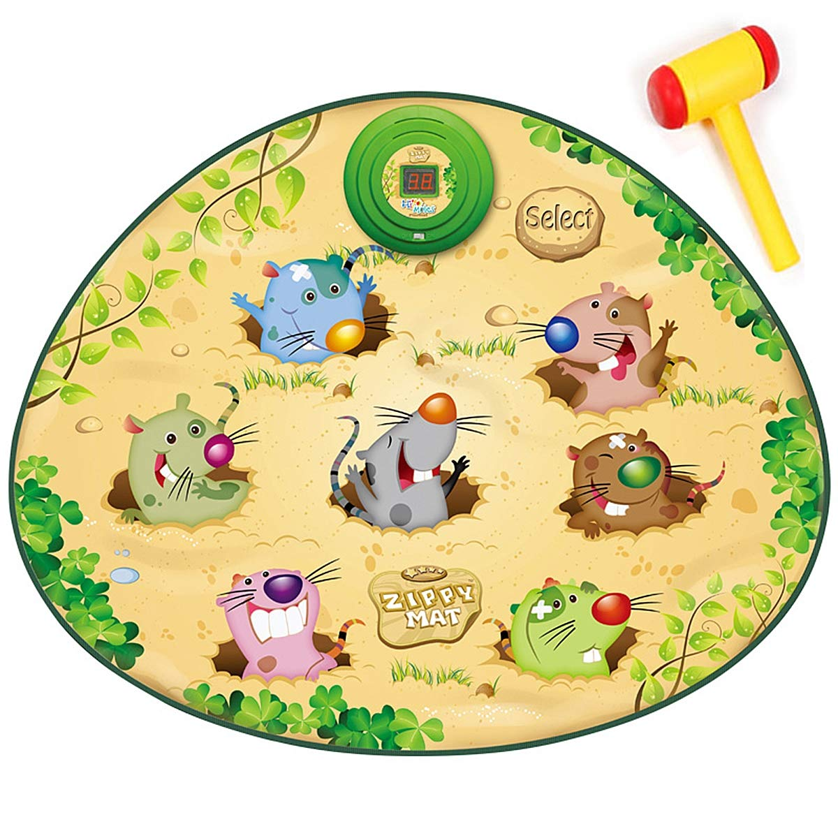 Playing Hamster Game Blanket, Kids Electronic Music Play Mat Security Electronic Keyboard Play Blanket Ideal Toys and Gifts for Children by Eustoma (Image #1)