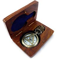 Kartique Full Hunter Analogue Watch with Chain and Wooden Box(White)