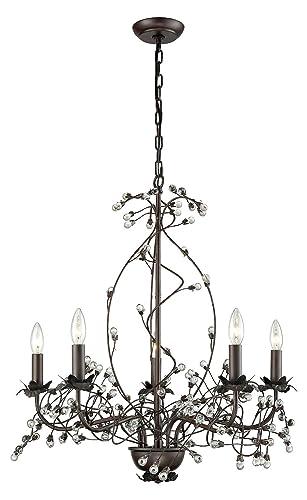 Amazon.com: Oberon 5 grande de luz lámpara de araña: Home ...