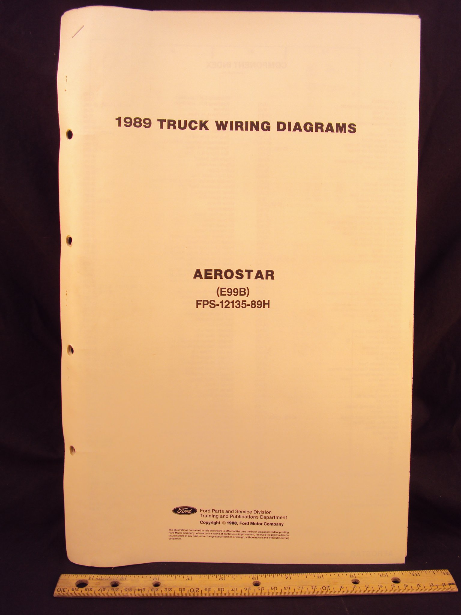 1989 FORD Aerostar Mini Van Electrical Wiring Diagrams / Schematics: Ford  Motor Company: Amazon.com: Books