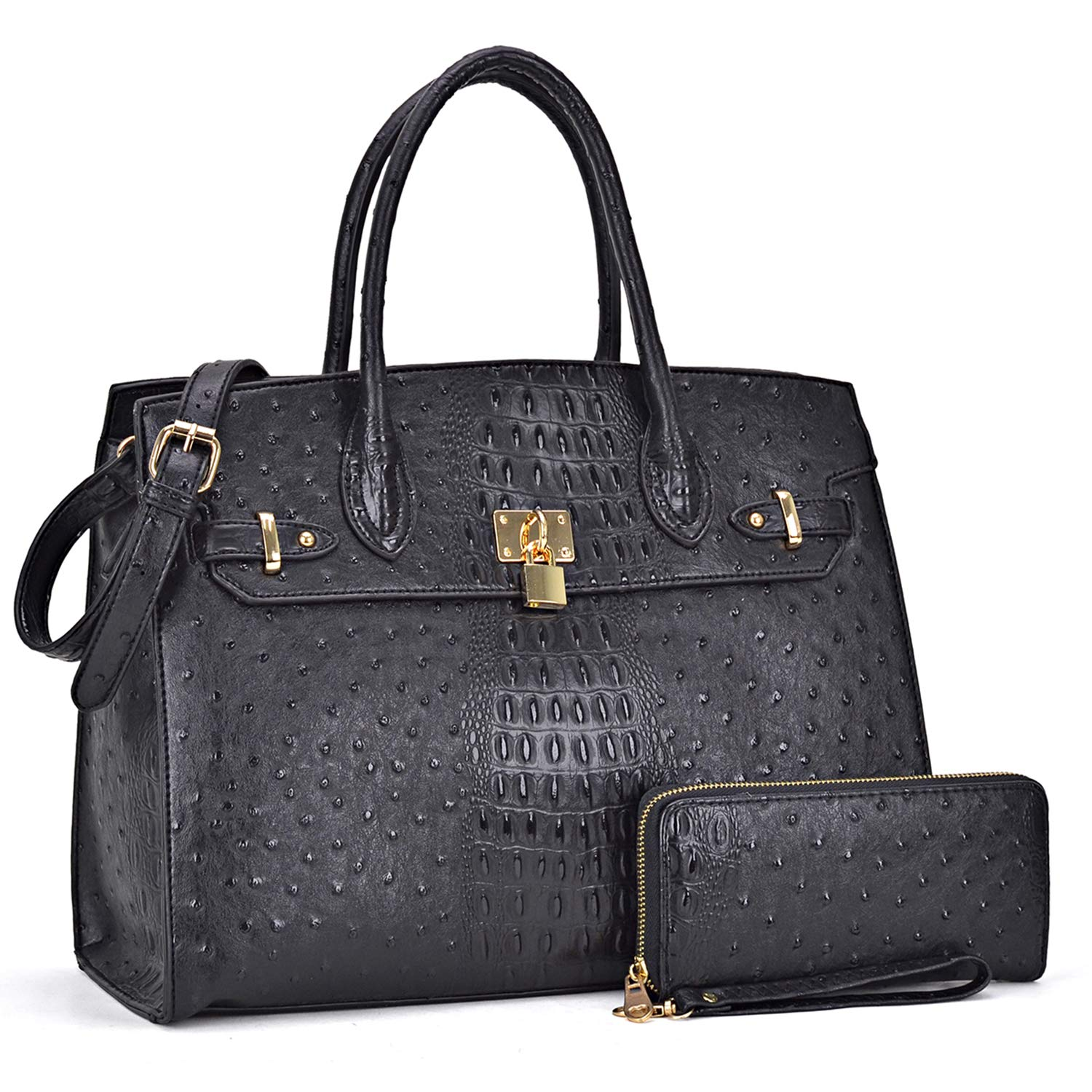 40abf3ee918f Amazon.com  DASEIN Women s Purses and Handbags Shoulder Bags Ladies Tote  Bags Padlock Satchels with Wallet  Shoes