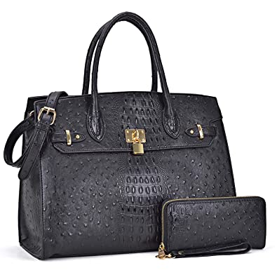 eff5ececb1f9 DASEIN Women's Purses and Handbags Shoulder Bags Ladies Tote Bags Padlock  Satchels with Wallet