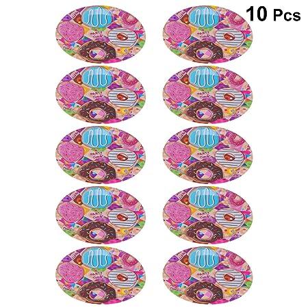 Toyvian 10 platos de papel desechables para fiesta de ...