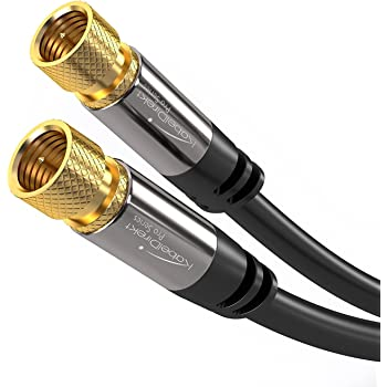 KabelDirekt Digital Coaxial Audio Video Cable (25ft) Satellite Cable Connectors - Coax Male F Connector Pin - Coax Cables for Satellite Television - PRO ...
