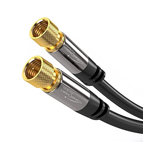 KabelDirekt Digital Coaxial (CL3 rated) Audio Video Cable (100ft) Satellite Cable Connectors