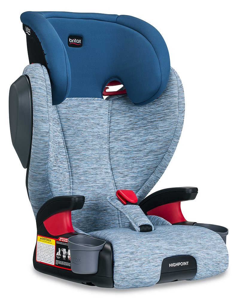 Britax Highpoint Belt-Positioning Booster Seat – 40 to 120 pounds – 3 Layer Impact Protection, Seaglass
