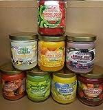 Smoke Odor Exterminator 13 oz Jar Candles Kiwi Twisted Strawberry, (8) Lemon Shake Up, Sugar Plum, Mulberry Spice, Granny Smith, Orange Lemon Splash, Pina Colada & Pumpkin Spice.