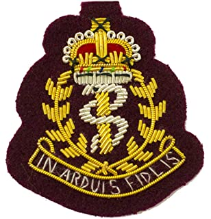 RAMC Officers Beret Cap Badges  Army, Bullion Wire on Black