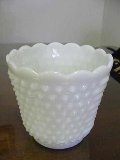 Amazon Fire King White Milk Glass Hobnail Vase Kitchen Dining