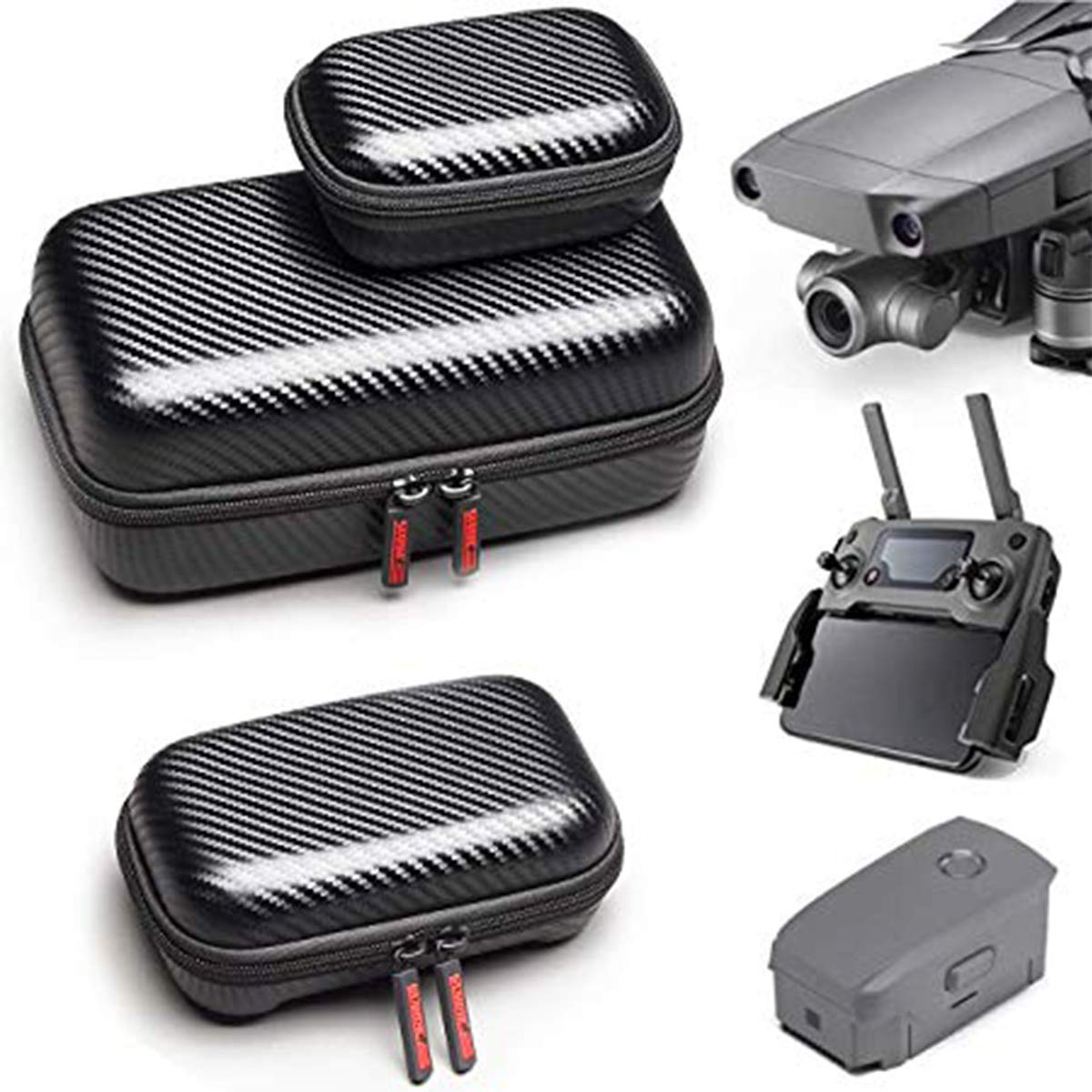 Carring Case for Mavic 2 Pro Zoom STARTRC Waterproof Carrying Case Foldable for DJI Mavic 2 Pro Zoom Mavic Pro Platinum Drone Body Remote Controller and Battery Bag Accessories