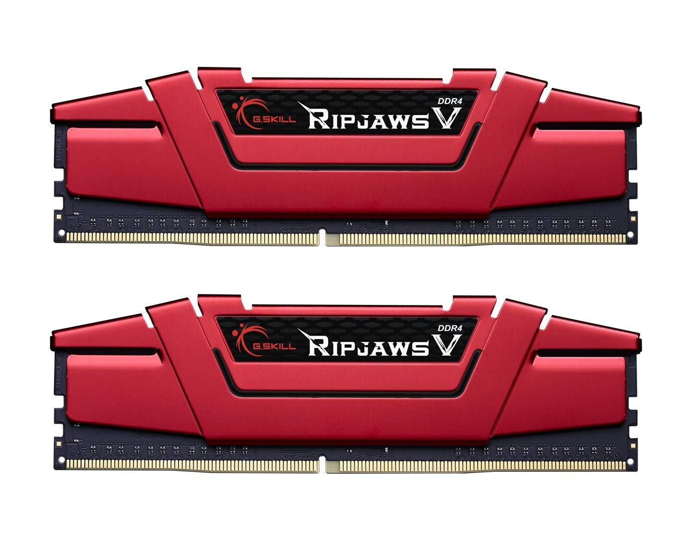 Memoria RAM 16GB G.Skill (2 x 8GB) Ripjaws V Series DDR4 PC4-25600 3200MHz Intel Z170 Platform F4-3200C16D-16GVRB