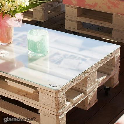 Temprix Glasplatte für Palettentisch | Glasauflage für Palettenmöbel &  Couchtisch | Palettentischglas für Europalette | Glastischplatten in ...
