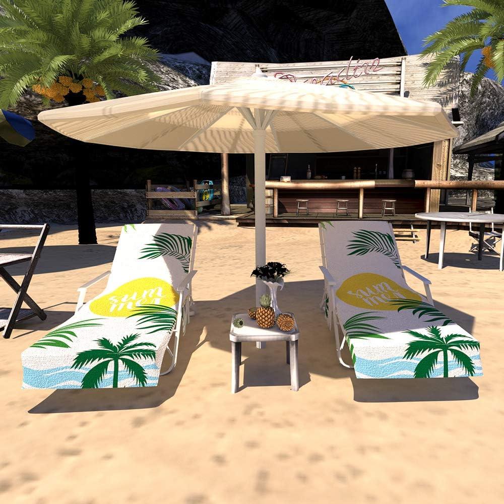 GZGZADMC - Funda para silla de playa, tumbona o tumbona, para piscina, para tomar el sol, tumbona, hotel, vacaciones, Funda para silla de playa E