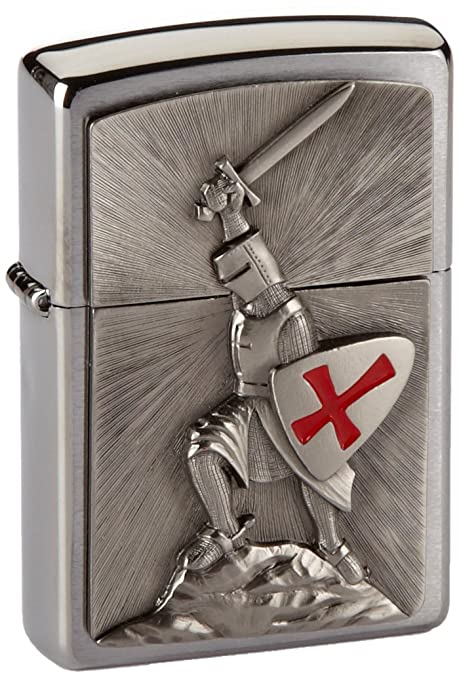 41a2ed7259b ZIPPO Crusade Victory Emblem Windproof Pocket Lighter - Chrome   Amazon.co.uk  Kitchen   Home