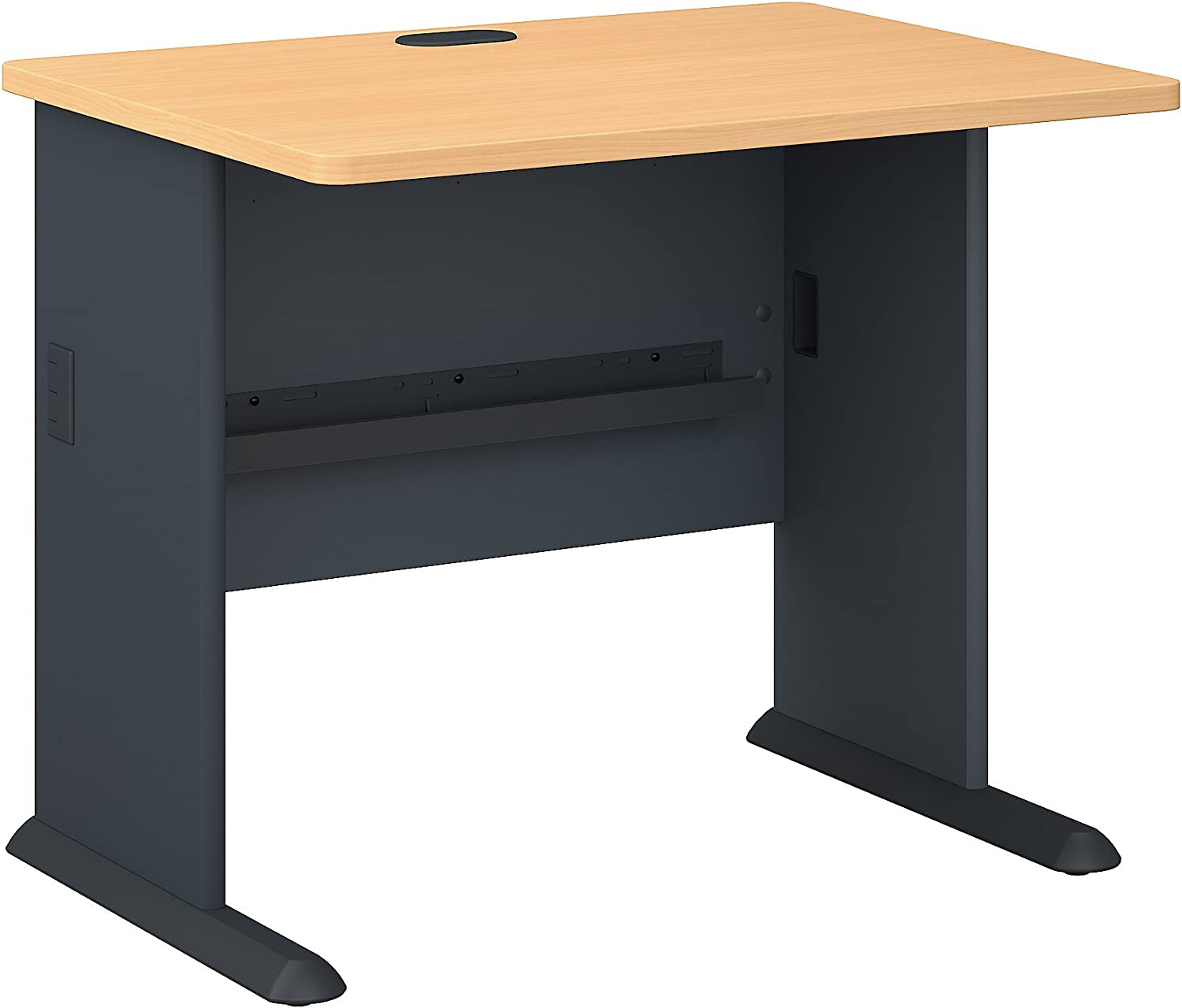 Bush Business Furniture Series A 36W Desk in Beech and Slate