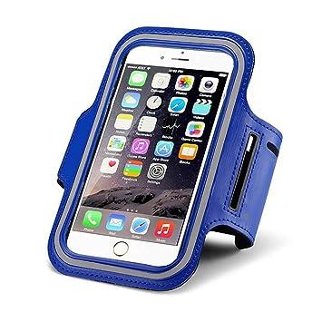 79f77e1598c De Brazalete Deportivo para iPhone 7 O iPhone 7 Plus y Otros Smartphon Apta  Correr Gimnasio Ejercicio, Color Azul, tamaño M(4.0-5.0 Inches): Amazon.es:  ...