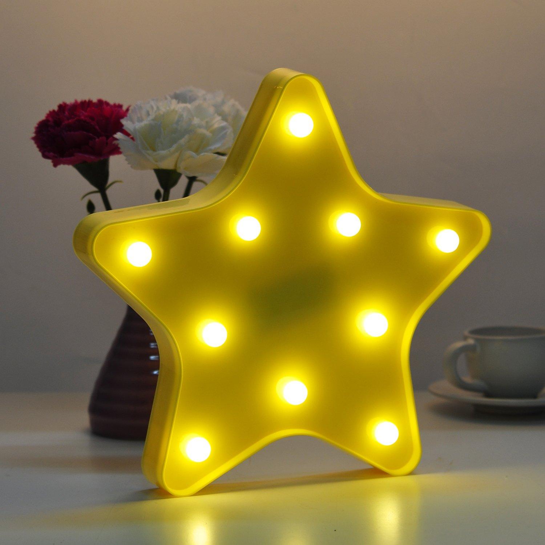 DeroTeno Star Night Light, Wall Lamp LED Bulb Room Decor, Ideal Birthday Christmas Gift For Your Kids