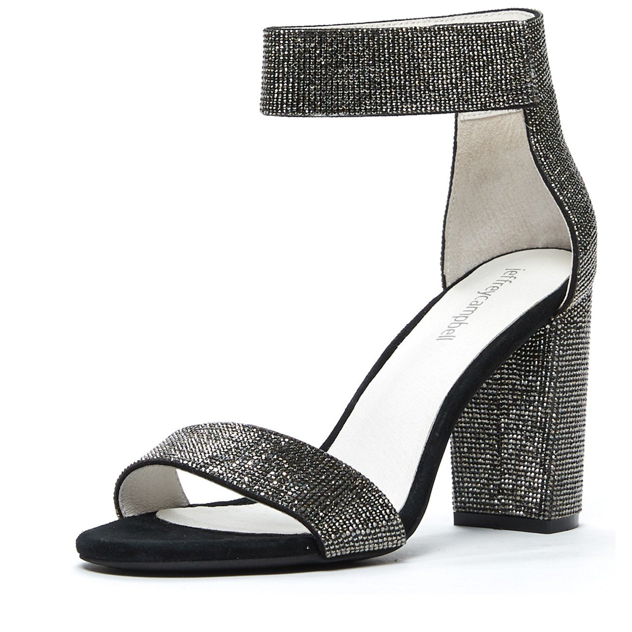 Jeffrey Campbell Lindsay JS, Rhinestone Dress Sandal, Silver, 6