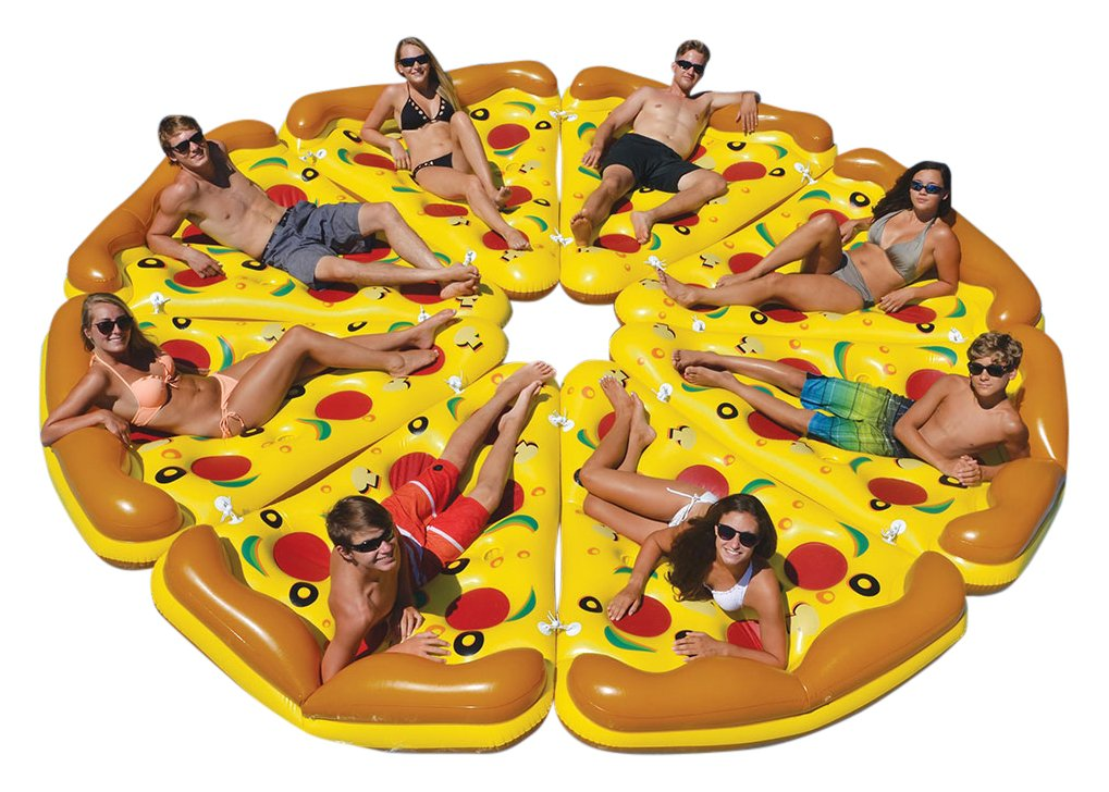 Swimline Giant Inflatable Pizza Slice for Swmming Pool (8 Pack) by Swimline (Image #1)