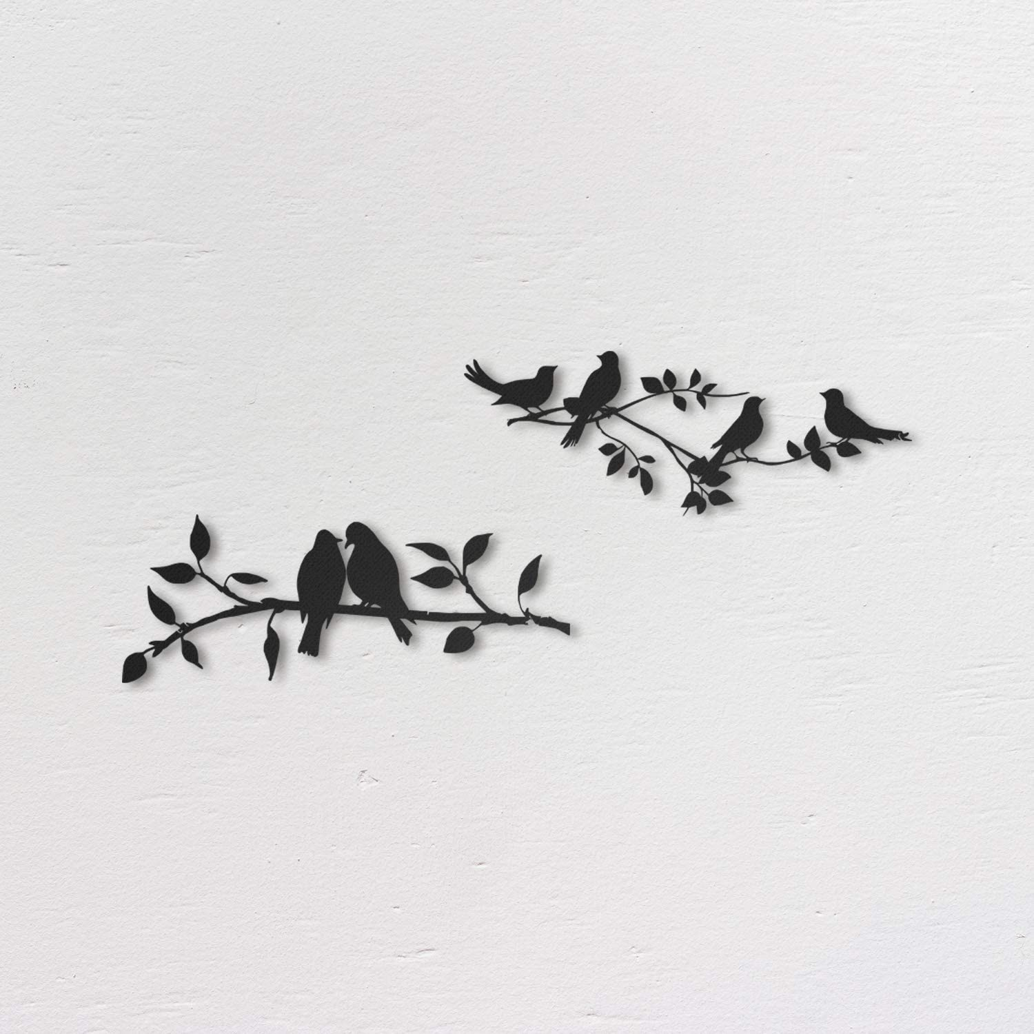 Northshire Metal Wall Decor, Aves Metal Wall art, Black Wall Decor Bathroom Decor, Bedroom Decor and Kitchen Wall Decor, Wall Decorations for Living Room