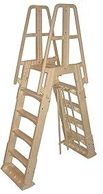Vinyl Works NE120T Premium Frame Above Ground Pool Ladder, Taupe