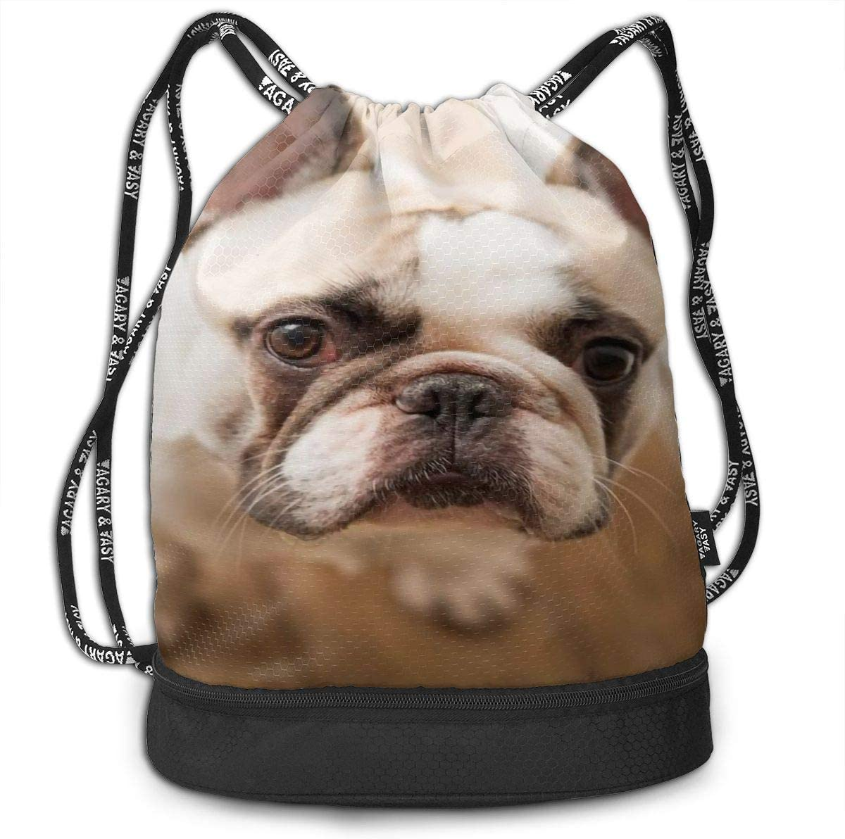 Drawstring Backpack Bulldog Puppy Dog Bags