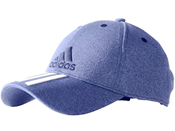 b52bff02b45ea adidas Mens Light Blue Adjustable Iconic 3 Stripes Embroidered Baseball 3  Stripe Cap