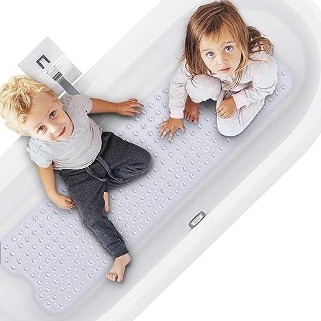 "Extra Long 40""X 16"" Bathtub Mat Non Thetis Homes Bath Tub And Shower Mats"