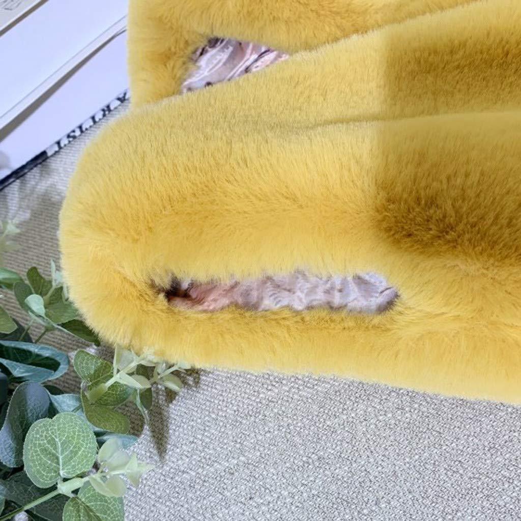 M/äntel /Ärmellose Faux Pelz Jacke Gelb 18 Monate Coversolate Baby Kinder M/ädchen Kleidung Weste Pl/üsch Winter 7 Jahre Alt