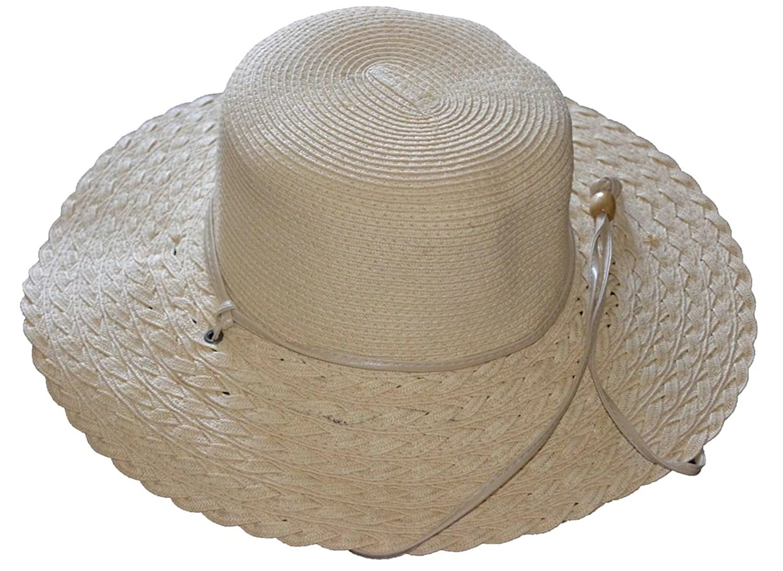 G Women's Straw Summer Hat 58cm Natural