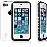 iPhone 5C WaterProof Case, iPhone 5C Case, Zoumba Waterproof Phone Case Cover For Apple iPhone 5C Shock-Absorbing Bumper Dirtproof SnowProof - White