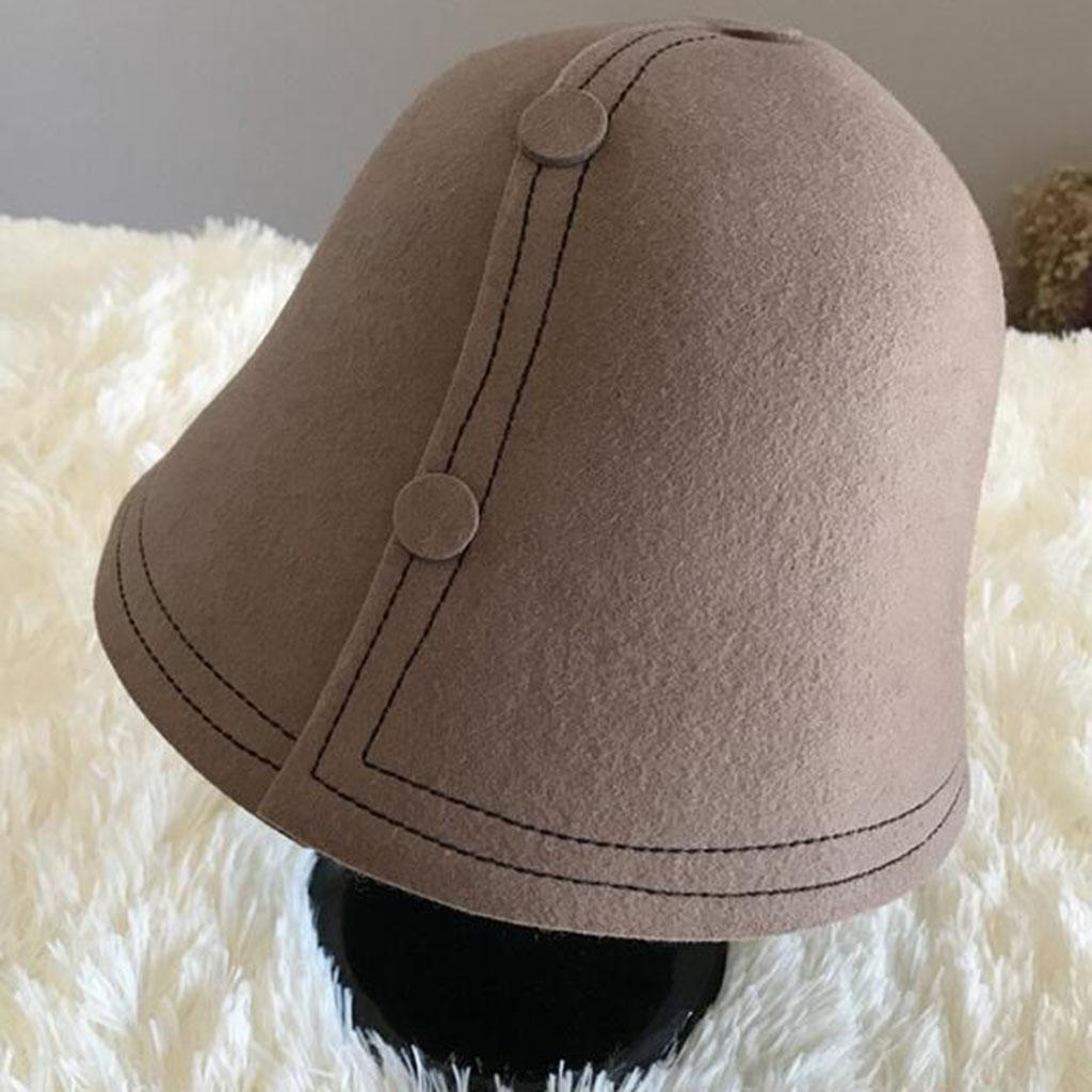 Color sólido Modelos femeninos Otoño e invierno Moda Mantener caliente Frío Más grueso Sombrero de fieltro , brown