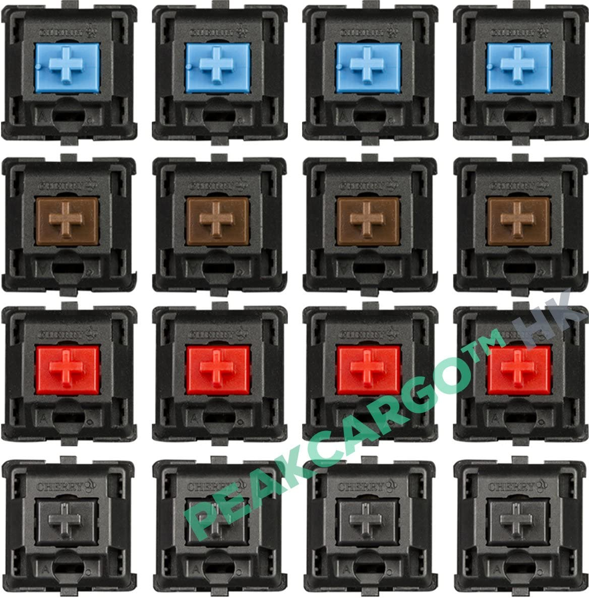 12 PACK CHERRY MX Red Mechanical Keyboard Switches Microswitch Keyswitches