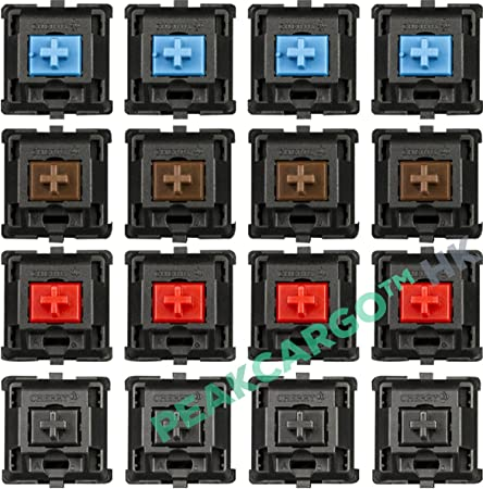 Mechanical Switch Keyboard Blue//Brown//Black//Red Replacement for Cherry MX Kit;UK