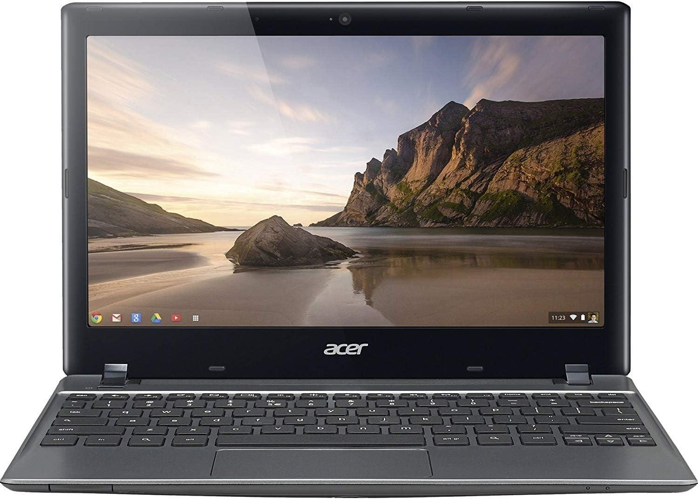 Acer Chromebook NX.SHEAA.006 Intel Celeron 2955U X2 1.4GHz 2GB 16GB,Black(Renewed)