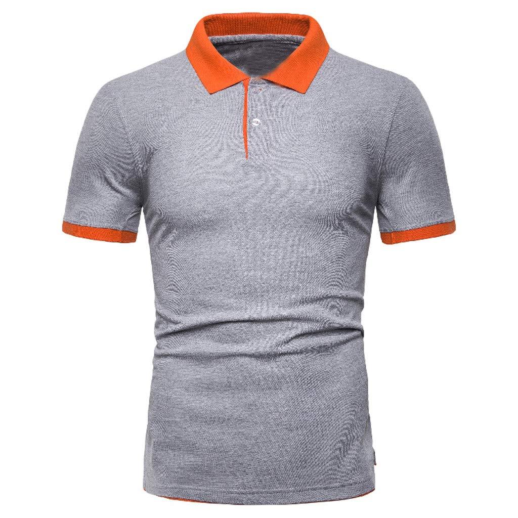 Kurzarm T-Shirt,Sommer New Casual Euro-American Style Patchwork Revers Kurzarm Tops Fitness Atmungsaktiv Bluse Sport Tunika