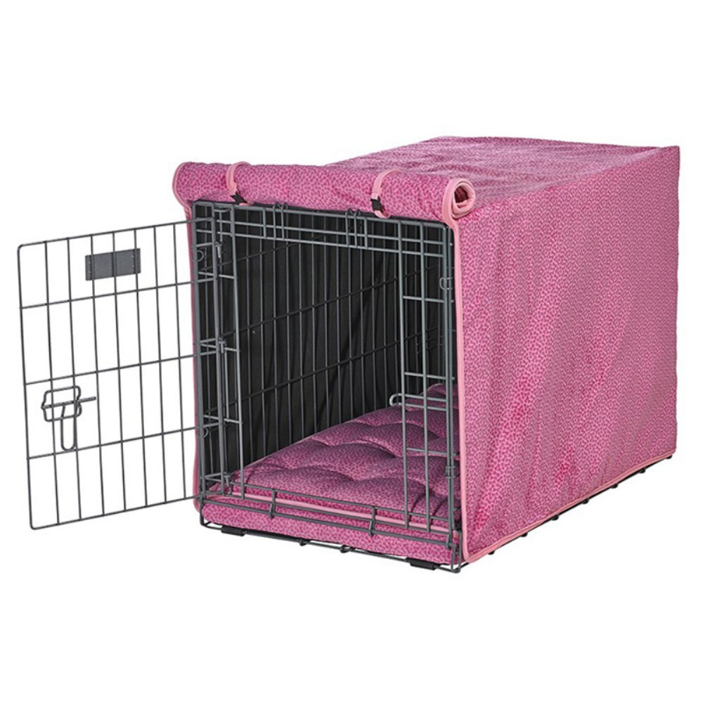 Bowsers Luxury Crate Cover, X-Large, Flamingo Bones