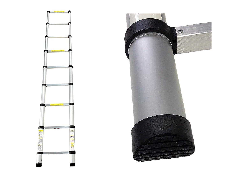 Teleskopleiter Sprossenanzahl: 12 Standard//Zertifizierung: EN131 3,8 Meter Leogreen EN 131 Mehrzweckleiter Stabilisierungsstange