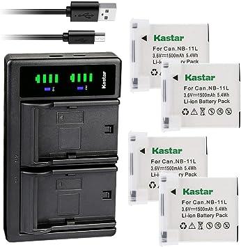 USB Cargador De Batería Para Canon NB-11L CB-2LD y IXUS 155 IXUS 265 Cámaras