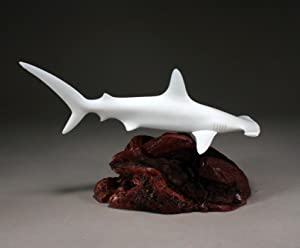 HAMMERHEAD SHARK Sculpture from JOHN PERRY 12in long Pellucida Statue