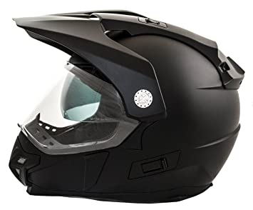 Casco Moto LEM - Trail - NEGRO MATE (XS)