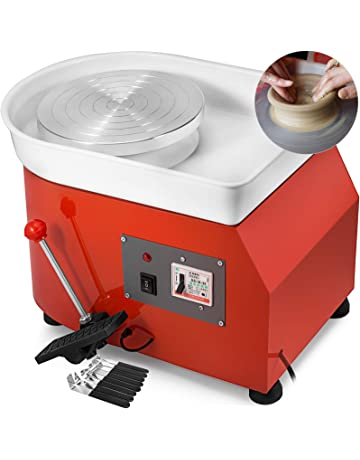 25CM Pottery Wheel Pottery Forming Machine 350W Electric Pottery Wheel DIY Clay Tool Ceramic Machine Work Clay Art Craft DIY Orange