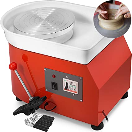 Pottery Wheel Kit 25CM Ceramic Machine Pottery Forming Machine Electric Pottery Wheel DIY Clay Tool for Ceramic Work Ceramic Clay Beginners//Adults//Kids 350W 110V US Plug
